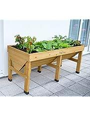 VegTrug Medium (1.8m) Raised Wooden Garden Planter (Natural