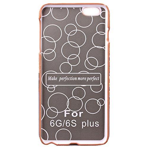 Etsue Housse Etui pour iPhone 6S Plus,Floral Série Solide Couleur Protecteur Hard Shell Case Coque pour iPhone 6 Plus,Cartes Slots Retour Housse avec Kickstand pour iPhone 6 Plus/6S Plus 5.5 pouces 1x Floral #2