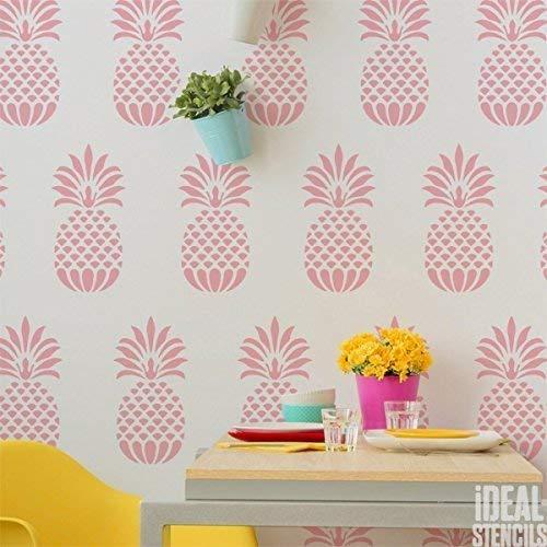 ne | Wiederverwendbar Home Wand Tropisch Stil Dekor, Kunst & Handwerk Schablone | Farbe Wände Stoffe & Möbel - halb transparent Schablone, S/ 12X25CM ()
