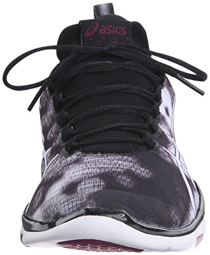 Asics Gel-Fit Sana 2 Synthétique Chaussure de Course Black-White-White