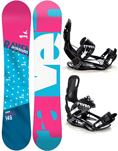 Snowboard Set: Snowboard Style Rocker 2017 + Bindung Raven s220 Black S