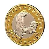 Sammlermünzen COLORFUL Gedenkmünze Sex Euro Münzen Mix Reine Goldmünzen Euro-Münzen (A)