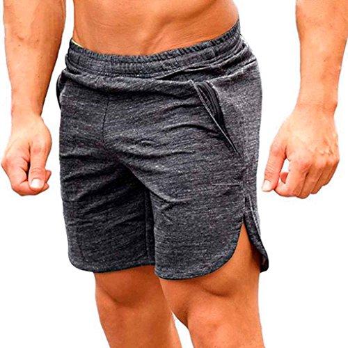 Minzhi Traspirante Allentati di Sport degli Uomini Pantaloncini da Corsa Bodybuilding Polpaccio Cinque Pantaloni di scarsità Fitness Palestre