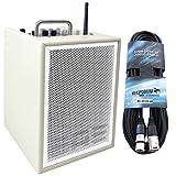 Elite Acoustics A1-4 CRM Gitarren-Verstärker 3-Kanal Mini PA Box Akku-betrieben mit Effekten + KEEPDRUM 6m XLR Kabel