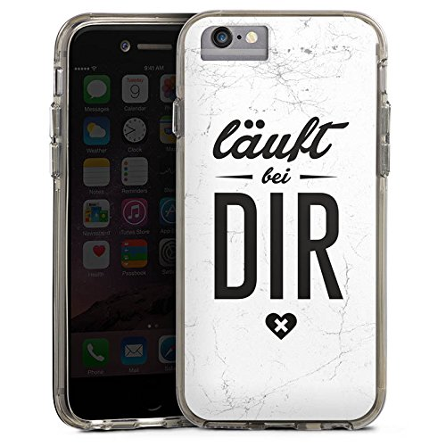 Apple iPhone 7 Bumper Hülle Bumper Case Glitzer Hülle Sprüche Phrases Sayings Bumper Case transparent grau