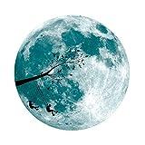 3D Wandsticker Leuchtaufkleber Leuchtsticker Großer Mond Wandaufkleber Hausdekoration für Schlafzimmer Wohnzimmer Kinderzimmer Fluoreszierender Aufkleber 5cm / 30cm (Blau A, 30CM)