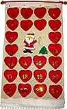 Adventskalender zum Befüllen Weihnachtskalender (69 x 35 cm, Jute-Stoff)