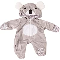 Gotz 3402915 Baby Doll Onesie / Overall Koala - Size S - Dolls Clothing / Accessory Set - Suitable For Baby Dolls Size S (30 - 33 cm)