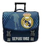 Real Madrid Cartable Scolaire à roulettes Collection Officielle
