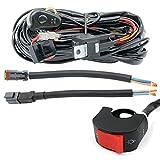 Juego de arnés de cables Barra de luces LED Interruptor de telar de cableado de la lámpara antiniebla