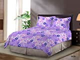 Bombay Dyeing Element 120 TC Double Bedsheet with 2 Pillow Covers - Lavender