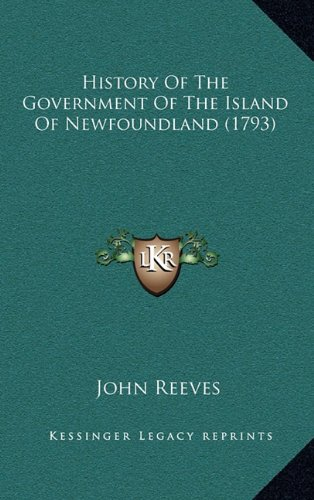 History of the Government of the Island of Newfoundland (1793)