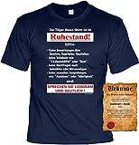 Lustige Rentner Sprüche Fun Tshirt Der Träger dieses Shirts ist im Ruhestand! - Pensionär shirt mit Gratis Urkunde!