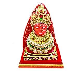 Papilon Handmade Gold Plated Jeen MATA Spiritual Idols Decorative Puja/Vastu Showpiece Religious Pooja Gift Item & Murti for Mandir,Temple,Home Decor & Office 12x9x7 inches