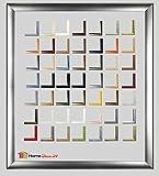 Bilderrahmen Pisa 60 x 85 Posterrahmen 85 x 60 cm - Holz Werkstoff Profil in fünfzig Farben - hier Schwarz matt
