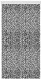 Arsvita Flausch-Vorhang (56x180 cm) in der Farbe: Schwarz-Grau-Weiß, viele weitere Größen erhältlich