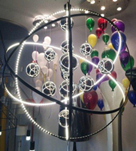 LLY FWEF Glas Ball Kronleuchter Moderne einfache Eisen Kunstglas Kronleuchter Hotel Restaurant kreative Persönlichkeit LED Ball Lampe Glas Kronleuchter, 50cm -