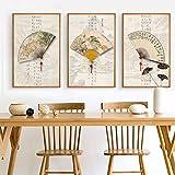 Geiqianjiumai Kalligraphiedruckenfankunstmalerei-Wandstudienmalereihauptdekoration Retro- Segeltuchplakattradition der chinesischen Art