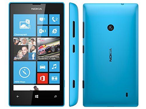 Nokia Lumia 520 - Smartphone Windows Phone (Bildschirm 4, 5 MP Kamera, 8 GB, Dual-Core 1 GHz, 512 MB RAM), blau, (Import)