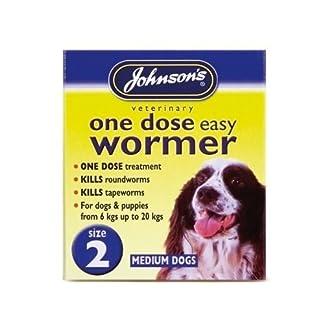 (4 Pack) Johnson's Vet - Easy Dose Wormer Size 2 Medium Dog 2 Tabs (4 Pack) Johnson's Vet – Easy Dose Wormer Size 2 Medium Dog 2 Tabs 51X 2BWWWeLrL