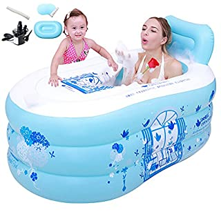 MBJZ Inflatable bath tub shower and bath tub collapsed, the blue,130*70*45cm