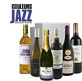 Vinaddict - Coffret Couleurs Jazz Sextet - L'Accord Parfait Entre Jazz & Vins - 6 Bouteilles - Sauternes Aoc, Champagne, Saint Estephe Aoc, Coteaux Du Giennois Aoc, Moulin À Vent Aoc, Pessac Leognan Aoc