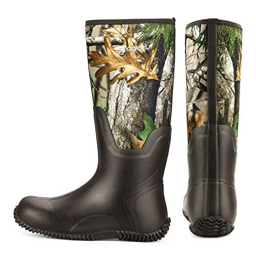 Magreel Neoprene Wellington Boots Insulated Neoprene Boots for Men and Women Waterproof Hunter Wellies for Snow, Rain, Mud, Garden, Fishing, Hunting and Outdoor Work