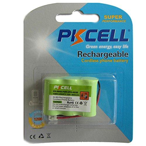 PKCELL PK-0042 CPH-403D Ni-MH Micro Telefon Akku I Phone Battery 2/3 AA 600mAh 3.6V für V Tech Phone I AT&T I Radio Shack wiederaufladbar I Rechargeable