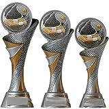KDS® FG Pokal S Trophäe Tennis mit Emblem 70 mm aus Resin Kunstharz Massiv ca. 22,5 cm Hoch