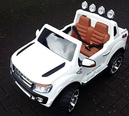 RC Auto kaufen Kinderauto Bild 4: SL Lifestyle Kinderauto Elektro Ford Ranger Vollausstattung R/C Weiss - Mit großem 12V/10Ah Akku 2 Motoren; Kinderautos elektrisch mit original Lizenz*