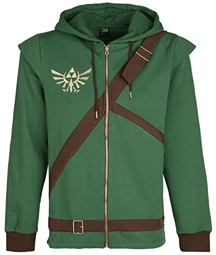 Produktbild Bioworld The Legend of Zelda Cosplay Zip-Hoodie Kapuzenjacke grün / braun XL