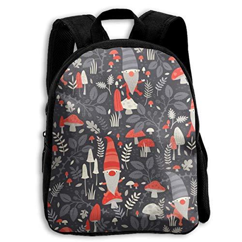 ADGBag Children Boys Girls Nordic Gnomes Backpack Shoulder Bag Book Scholl Travel Backpack Kinderrucksack Rucksack