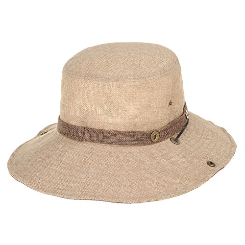WITHMOONS-Baseballmtze-Mtzen-Caps-Boonie-Bush-Hat-Wide-Brim-Side-Snap-Mesh-Neutral-Color-KR8341
