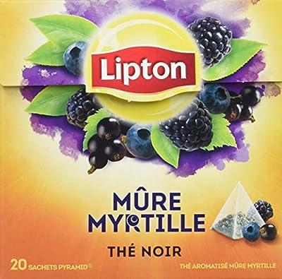 Lipton Thé Noir Mure Myrtille 60 Sachets - Lot de 3