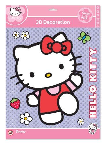 Hello Kitty Glow 3D Aufkleber-Groß (Hello Kitty Aufkleber Für Die Wand)