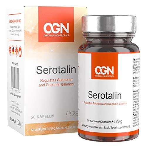 SEROTALIN Original Nootropics - Serotonina Booster - Miglioratore della serotonina e della dopamina numero 1 - Capsule vegetali con 5htp, DMAE, L-tirosina, P5P