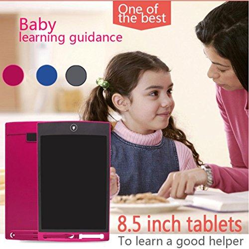Preisvergleich Produktbild Writing Tablet,  Sansee 8, 5-Zoll-LCD-EWriter Papierlose Memo-Pad-Tablette Schreiben Zeichnung Grafik-Board (Flüssigkristall Dimmen Film) (8, 5 Zoll LCD,  001 Rot)