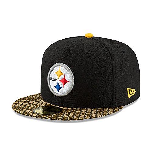 New Era 59Fifty Cap - NFL SIDELINE 2017 Pittsburgh Steelers 6 7/8 - 55cm (S),Schwarz