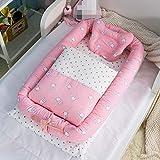 Portable Waschbare Babybett Bett Isoliert Neugeborenen Biomimetischen Bett, Bestehend Aus Einer Decke, 90 * 56 * 15cm,1