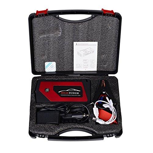 Mobile Starter Kit (CHANNIKO-DE 12V 89800mah Multi-Function Car Charger Battery Jump Starter 4USB LED Light Auto Emergency Mobile Power Bank Tool Kit)