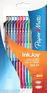 PaperMate InkJoy 300 RT Retractable Ball Pen with 1.0 mm Medium Tip - Assorted Fun Colors, Pack of 10