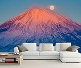 Jonp 3D Tapete Hintergrundbild Wallpaper Benutzerdefinierte Wandbild Japan Fuji Vulkan Mond Natur Foto Tapete Wohnzimmer Fernseher Sofa Wand Schlafzimmer Restaurant Wandmalerei Fresko Mural 150cmX100cm