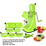#5: Floraware Fruit & Vegetable Manual Juicer Mixer Grinder,6 In 1 Multi-Purpose Fruit & Vegetable Slicer & Multi Veg Cutter With Peeler