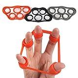 PROCIRCLE Finger Stretcher - Hand Widerstand Band für Unterarm Übung, Gitarre Finger Verstärker und Klettern - 6 Pieces for 3 Levels