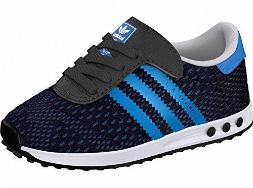 Adidas - Adidas La Trainer Em Cf I Chussures de Sport Enfant Bleu Velcro Toile S78986 - Bleu, 25