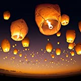 Multi-Colored Sky Lanterns for Karwa Chauth Night,Weddings, Birthday Parties (Pack of 10)