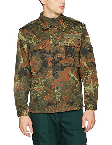 Mil-Tec German Flecktarn Camouflage Pattern Fatigue Field Shirt (40 inch - Short (GR3)) (Epic Kostüm Frauen)