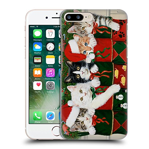 Ufficiale Christmas Mix Dean Russo Pitbull Animali Cover Retro Rigida per Apple iPhone 6 / 6s William Vanderdasson Cuccioli