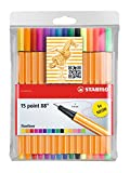 STABILO point88 Fineliner colori assortiti - Astuccio da 15