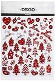 Creativ Company 28959 - Feuille de 54 stickers décoratifs, plastique, rouge et blanc